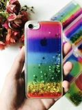 O New Star Glitter Rainbow TPU Liquid Quicksand Phone Case