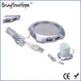 Mini aquecedor do copo do USB com o cubo 4-Port (XH-UWH-001)