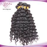 Cabelo preto natural dos Peruvian do Virgin da venda por atacado do Weave do cabelo humano de Remy