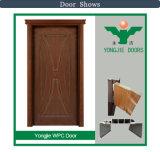 Un design moderne en bois composite de prix bas de porte en plastique