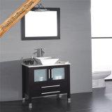 Fed-1886 Vidrio de lavabo de vidrio superior Gabinete de baño de tocador de baño moderno