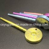 Titanium Dabber van de Klok van het Hulpmiddel van de SCHAR van het titanium het Domeless Gekleurde voor pijpen
