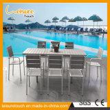 현대 안뜰 알루미늄 등나무 식탁 및 의자 옥외 정원 작은 술집 고리버들 세공 가구