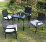Mtc-003 Outdoor Rattan Dining Set 4 Seater Public garden Garden Furniture