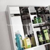 Banho de aço inoxidável moderno armário do espelho da unidade de armazenamento de porta única