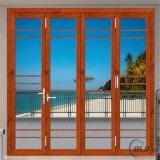 Алюминиевая дверь деревянной перегородки рамки сползая дверь входа с бортовым Lite