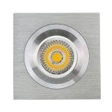 Quadratische örtlich festgelegte vertiefte LED Deckenleuchte des Drehbank-Aluminium-GU10 MR16 (LT2119)