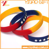 A borracha do disconto personalizou o Wristband gravado (YB-LY-WR-01)
