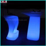 Patio LED Muebles de plástico LED PE Muebles Atmósfera Muebles