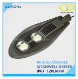 Luz de rua solar elevada do diodo emissor de luz do brilho 100W com certificação de Ce/RoHS