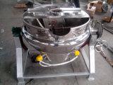 Aço inoxidável 200L chaleira para cozinhar com camisa de vapor