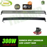 barra ligera curvada 300W de 10V-30V 50inch 5D LED (viga combinada)