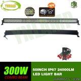 10V-30V 50inch 5D 300W gebogener LED heller Stab (kombinierter Träger)