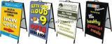 Металлическая вставка кадр знаки/Реклама металлические рамы/бутерброда платы/a стопорное рамы a-плате входа, с защелкой, складывания рамы складной знак неоновых Промо стенд