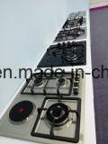 Cocina de gas aplicada con brocha del acero inoxidable (JZS4513)