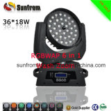 Voyant DEL Disco Bar 36pcs X 18W LED Zoom Moving Head Wash