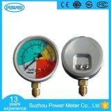 calibre de pressão isométrico da alta qualidade da caixa de aço inoxidável de 60mm