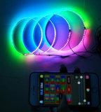 """Sueño de Control Bluetooth persiguiendo el color de la serie de Caudal Ajustable de 15,5"""" iluminado de los anillos de rueda Kit de luz de la llanta"""