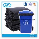 Sac d'ordures en plastique lourd noir de LDPE
