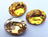 Golden Shadow Cristal Oval Fancy Stone a granel para joalharia