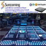 Instalação fácil 3D Mirror Time Tunnel Portable LED Dance Floor