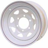rotelle d'acciaio dello Spoke 14X5.5 per le automobili 8 orli bianchi di rivestimento dello Spoke