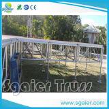 Bewegliche Aluminiumsetzstufen, die Plattform-bewegliche zusammenklappbare Stufe falten