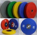 Olympic Crossfit Paragolpes de goma de las placas de peso/GIMNASIO Gimnasio Accesorios Placas de paragolpes de goma