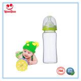 240ml anchas Botellas de vidrio de boca del bebé con los colores del doble de la manija