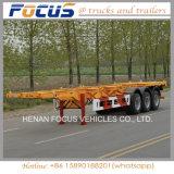 De tri Aanhangwagen van de Container van de Vrachtwagen van het Skelet van de Logistiek van Assen met het Platform van de Lading