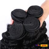 Cuticule Remy Cheveux humains cousus dans les extensions de cheveux Virgin Peruvian Hair