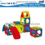 De grappige Plastic Apparatuur van de Speelplaats van het Speelgoed voor het Spel van Jonge geitjes (hc-16302)