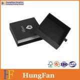 Rectángulo de empaquetado de desplazamiento negro de lujo del cajón de la joyería de la joyería
