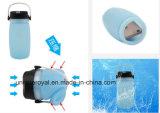 Wasserdichte faltende kampierende helle Flasche des Silikon-Cup-LED