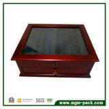 Luxe Fontaine en bois Affichage Pen Box avec tiroir