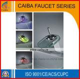 Single Handle LED Waterfall Basin Faucet