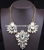 Fleur de pierre de verre Shourouk style collier pendentif (XJW13097)
