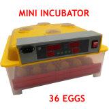 CE bon marché automatique d'incubateur d'oeufs de canard de 36 oeufs de poulet marqué (KP-36)