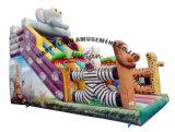 膨脹可能なジャンパーの障害ジャングルの動物の膨脹可能なスライド