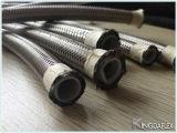 Boyau flexible de teflon de PTFE avec la tresse de l'acier inoxydable Ss304