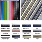Cortina de aluminio curvada capa poste de Rod de cortina del polvo