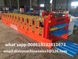 Rullo del comitato del tetto della lamiera di acciaio di colore di Doppio-Strato che forma macchina
