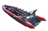 Aqualand 33feet 10mのガラス繊維の堅く膨脹可能な救助艇の肋骨のモーターボートかMotoまたは飛び込みまたは軍の哨戒艇(RIB1050)