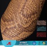 물자 합성 물질 PU/PVC 가죽이 모조 뱀 피부 가죽 신발 PU에 의하여 구두를 신긴다