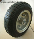 Una rotella di gomma solida da 14 pollici
