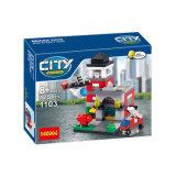 Plastikspielzeug der stadt-Straßen-Ziegelstein-664PCS für Kinder