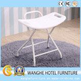 Blanco plástico de los muebles del hogar de los muebles del hotel plegable la silla al aire libre