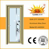 Portes en aluminium vitré de salle de bain simple Swing (SC-AAD020)