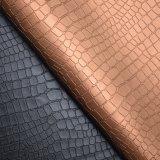 Couro do falso da grão do Litchi, couro sintético do plutônio, couro Textured do saco