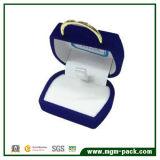 Bijoux en velours bleu mignon Handbag-Shaped boîte cadeau